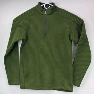 Men's Columbia Sweater Thick & Warm Large Green